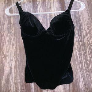 Victoria Secret Black Velvet Top